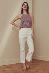 Smart Cotton Sateen Crop Trouser