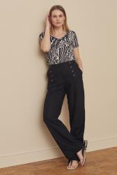 Formal Linen Wide Leg Trouser
