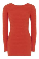 Orange V-Back Knitted Tunic