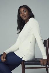 White Button Detail Jumper