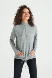 Grey Marl Funnel Neck Sweatshirt