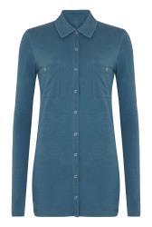 Blue Cotton Jersey Shirt