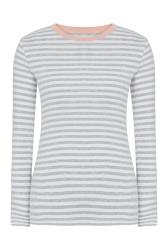 White and Grey Long Sleeve T-Shirt