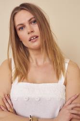 Sleeveless Linen Lace Top