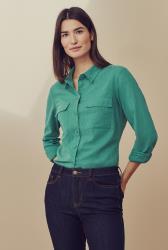 Double Pocket Linen Shirt