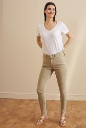 Tan Skinny Low Rise Jeans