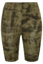 LIMITED COLLECTION Khaki Tie Dye Cycling Shorts