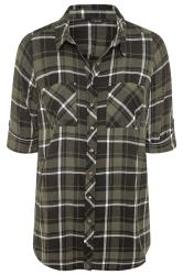 Green Check Studded Boyfriend Shirt