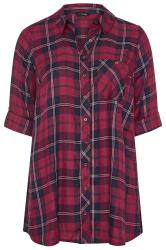 Purple Check Boyfriend Shirt