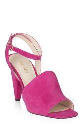 NINE WEST Pink Cone Leather Heels