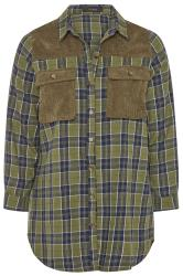 Khaki Cord Check Shirt