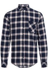 BLEND Navy Check Cotton Shirt