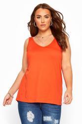 Top mit Rückenausschnitt - Orange