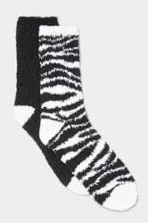 2 Pack Zebra Slipper Socks