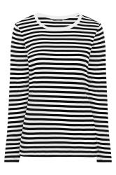 Black & White Stripe Long Sleeve Top