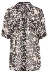 LIMITED COLLECTION Black & White Mixed Animal Print Boyfriend Shirt