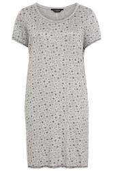 Grey Star Print Nightdress