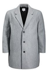 JACK & JONES Grey Liam Single Breasted Long Coat