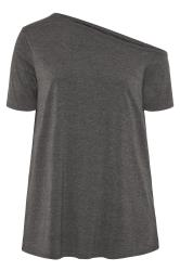 LIMITED COLLECTION Charcoal Grey Asymmetric Basic Top