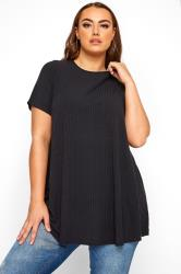 LIMITED COLLECTION Black Ribbed Swing T-Shirt