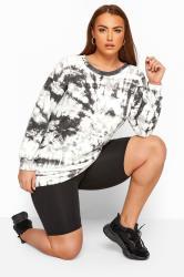 LIMITED COLLECTION Grey & White Tie Dye Sweatshirt
