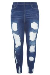 Indigo Extreme Distressed JENNY Jeggings