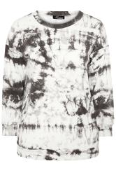 LIMITED COLLECTION Batik-Sweatshirt - Grau/Weiß