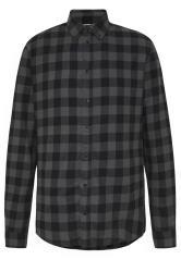 BLEND Grey Check Cotton Shirt