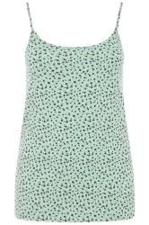 Mint Green Ditsy Floral Vest Top