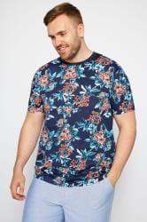 BadRhino Navy Tropical Floral T-shirt