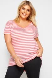 Pink Striped T-Shirt