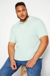 BAR HARBOUR Aqua Blue Polo Shirt