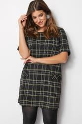 LIMITED COLLECTION Black & Yellow Check Tunic Dress