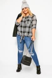 Black & White Check Boyfriend Shirt