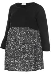 BUMP IT UP MATERNITY Black Dalmatian Print Smock Top