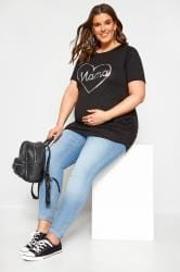 BUMP IT UP MATERNITY Black 'Mama' Heart T-Shirt