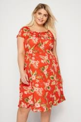 BUMP IT UP MATERNITY Red Floral Gypsy Dress