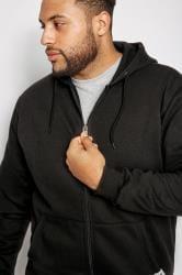 BadRhino Hoodie-Sweatshirt mit Taschen - Schwarz