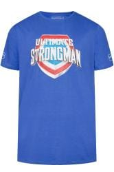 BadRhino Blue 'Ultimate Strongman' T-Shirt