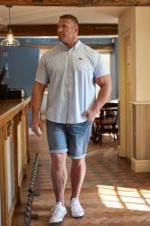 BadRhino Blue Washed Denim Shorts