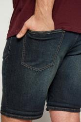 BadRhino Dark Blue Washed Denim Shorts