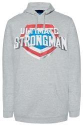 BadRhino Grey 'Ultimate Strongman' Hoodie