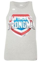 BadRhino Grey 'Ultimate Strongman' Vest Top