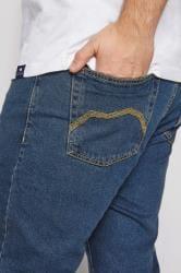 BadRhino Stretch-Jeans mit geradem Bein - Mittelblau