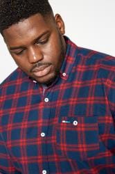 BadRhino Red & Navy Large Check Brushed Shirt