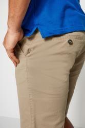 BadRhino Stone Five Pocket Chino Shorts With Belt