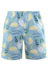 BAR HABOUR Blue Leaf Swim Shorts
