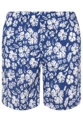 BAR HARBOUR Navy Tropical Swim Shorts