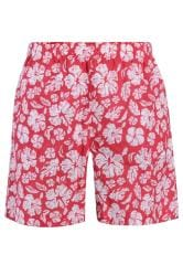BAR HARBOUR Red Tropical Swim Shorts