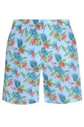 BAR HARBOUR Blue Tropical Swim Shorts